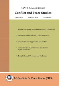 Book Cover: Conflict and Peace Studies, Vol-2, No-2, Apr-Jun 2009