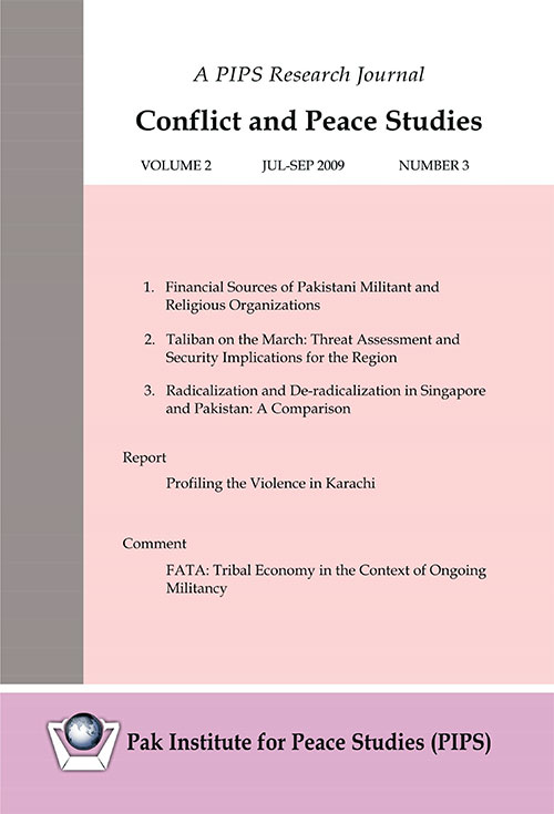 Book Cover: Conflict and Peace Studies, Vol-2, No-3, Jul-Sep 2009
