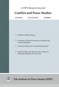 Book Cover: Conflict and Peace Studies, Vol-3, No-1, Jan-Mar 2010