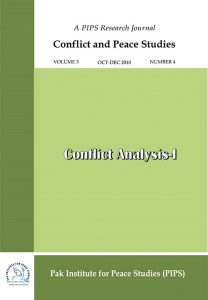 Book Cover: Conflict and Peace Studies, Vol-3, No-4, Oct-Dec 2010