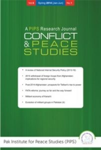 Book Cover: Conflict and Peace Studies, Vol-6, No-1, Jan-Jun 2014