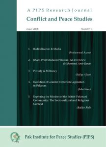 Book Cover: Conflict and Peace Studies, Vol-1, No-1, 2008