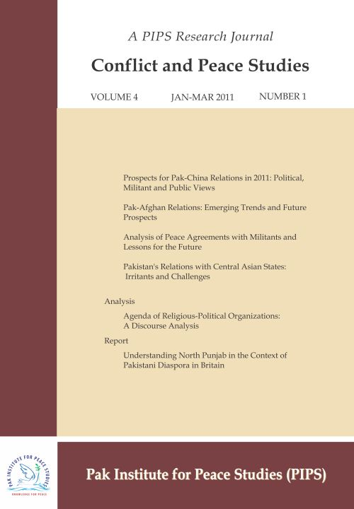 Book Cover: Conflict and Peace Studies, Vol-4, No-1, Jan-Mar 2011