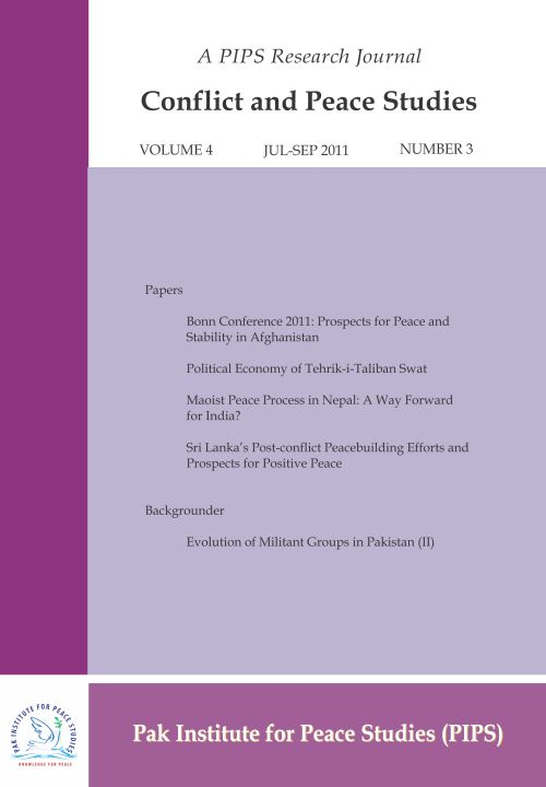Book Cover: Conflict and Peace Studies, Vol-4, No-3, Jul-Sep 2011