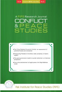 Book Cover: Conflict and Peace Studies, Vol-6, No-2, July-Dec 2014