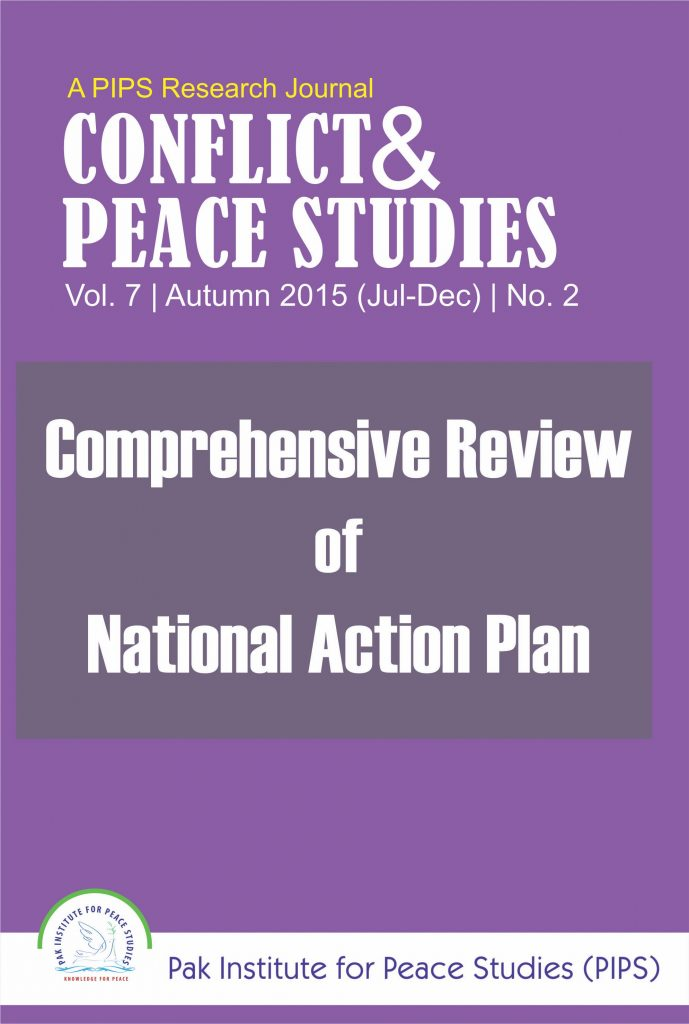 Book Cover: Conflict and Peace Studies, Vol-7, No-2, Jul-Dec 2015
