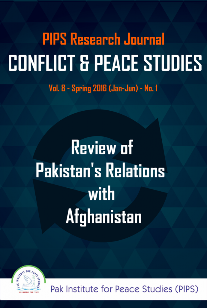 Book Cover: Conflict and Peace Studies, Vol-8, No-1, 2016