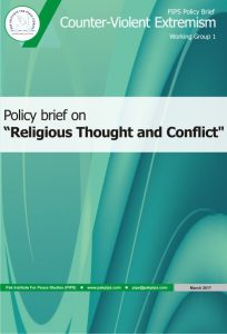Book Cover: National Policy brief-1 Religious Thought and Conflict