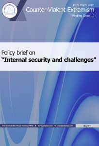 Book Cover: National Policy brief-10 Internal security and challenges