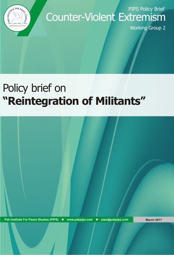 Book Cover: National Policy brief-2 Reintegration of Militants