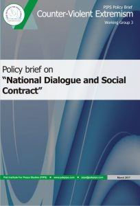 Book Cover: National Policy brief-3 National Dialogue and Social Contract