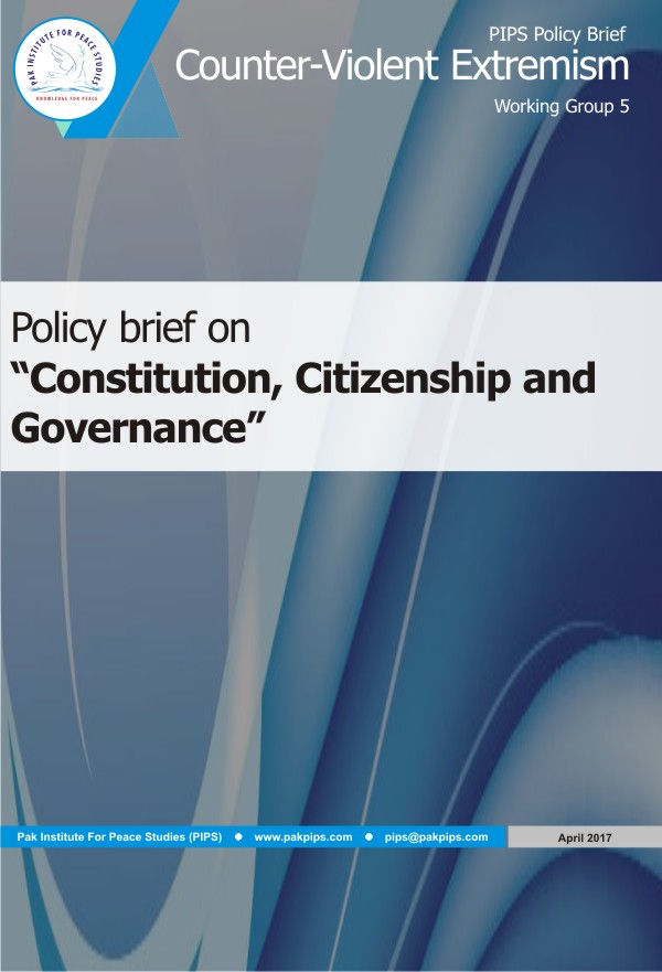 Book Cover: National Policy brief-5 Constitution, Citizenship and Governance