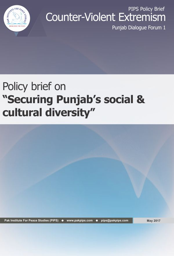 Book Cover: Punjab Policy brief-1 Securing Punjab's social & cultural diversity