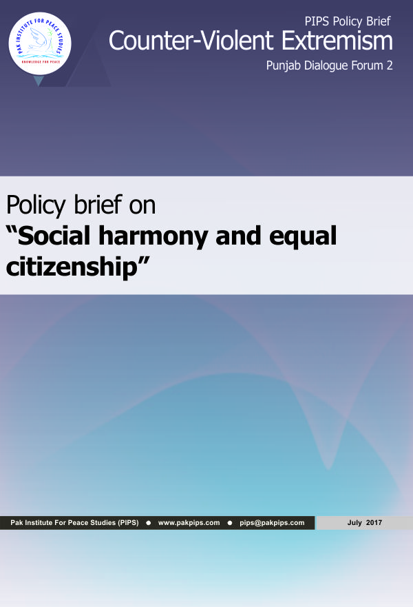 Book Cover: Punjab Policy brief-2 Social harmony and equal citizenship