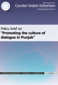 Book Cover: Punjab Policy brief-4 Promoting the culture of dialogue in Punjab