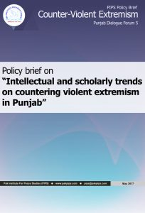 Book Cover: Punjab Policy brief-5 Intellectual and scholarly trends on countering violent extremism in Punjab