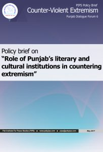 Book Cover: Punjab Policy brief-6 Role of Punjab's literary and cultural institutions in countering extremism
