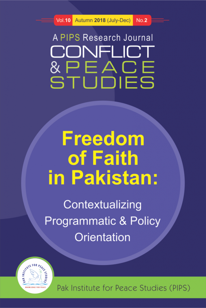 Book Cover: Conflict and Peace Studies, Vol-10, No-2, 2018